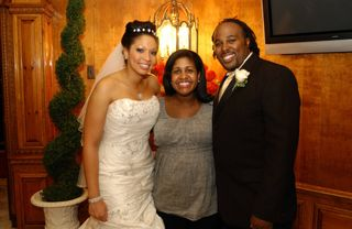 Soroya with Bride and Groom