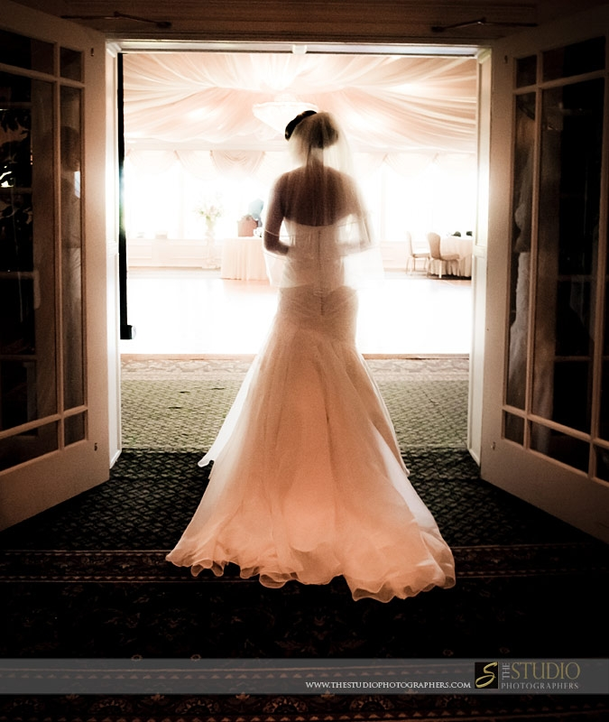 Bride looking at room